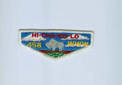 OA  Lodge 458 Hi-Cha-Ko-Lo pre fdl flap