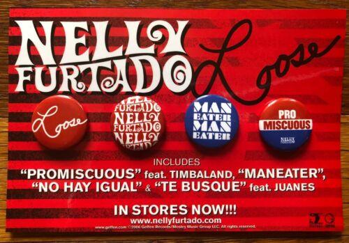 Nelly Furtado Loose RARE promo button set