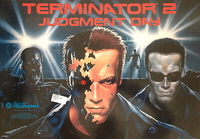 "Williams ""Terminator 2"" Pinball Translite  (Backglass) New NOS"