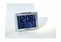 Ken-Tech T-4652 Atomic Radio Controlled LCD A larm Clock 1.5-In... Free Shipping