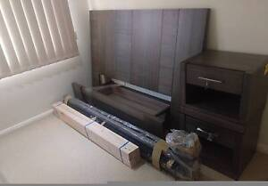 Queen bed, bedside tables and mattress Harrington Park Camden Area Preview