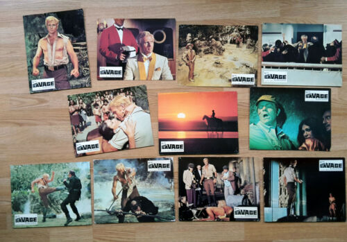 DOC SAVAGE  - 11 German lobby cards 1975  RON ELY  Sci-Fi Michael Anderson
