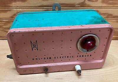 Holdem Electric Fencer Vintage Model 51 120 Volt Pink And Turquoise Hol-dem