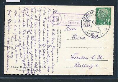Post Glider (23975) Landpost Ra2 16 Obernhausen über Gersfeld (Rhöngeb), AK Glider 1955)