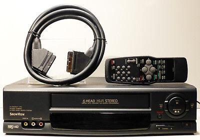 Hier: 1 JAHR GARANTIE 6 Kopf HiFi Stereo VHS Videorecorder Videorekorder