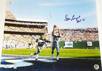 (SEATTLE SEAHAWKS STEVE LARGENT HAND SIGNED AUTOGRAPHED 16X20 PHOTO HOF PROOF+COA)