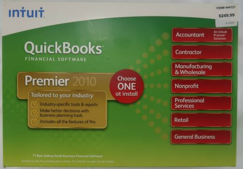 Intuit QuickBooks Premier 2010 - Industry Specific Accounting Software
