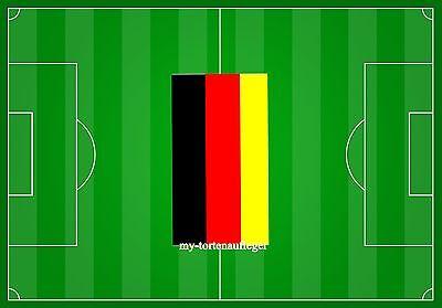 ger Fußballfeld DeutschlandOblaten oder Zuckerpapier DinA4 (Fußball-feld Papier)