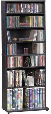 Multimedia Storage Tower CD/DVD Cabinet Shelves Organizer Media Shelf Wall Rack