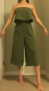 Missguided Romper, size 4, army green