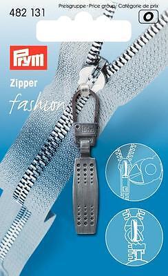 Reißverschluss - Zipper silber dunkel brüniert Prym 482131 Metall Matrix