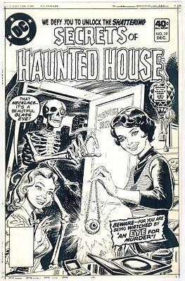 Haunted House Productions (1979 SECRETS OF HAUNTED HOUSE #19 ORIGINAL COVER PROOF DC COMICS PRODUCTION ART )