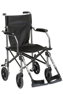 Travelite Transport Wheelchair Chair in A Bag, Black
