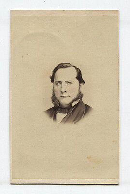 CDV ROUND FACED MAN WITH MUTTON CHOP SIDEBURNS. TINTED. PHILADELPHIA, PA. - Mutton Chop Sideburns