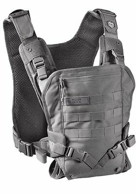 Mission Critical Tactical Front Baby Carrier Gray Military Army Navy Seal Vest