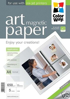 Top Quality Colorway Art Magnetic A4 Photo Paper 650gsm Matte 5 Sheets Brand -