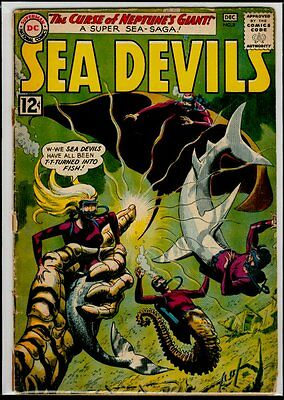 DC Comics SEA DEVILS #8 The Curse Of Neptune's Giant  G/VG 3.0