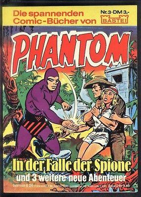 Phantom Nr.3 von 1980 - TOP Z0-1 BASTEI KRIMI COMIC-TASCHENBUCH Lee Falk