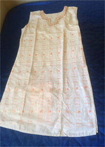 Two orange white embroidered dress Indian Bollywood size Small Harris Park Parramatta Area Preview