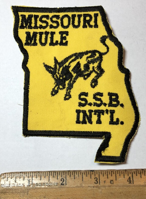 Vintage Missouri Mule SSB International Patch State Highway Patrol Communication
