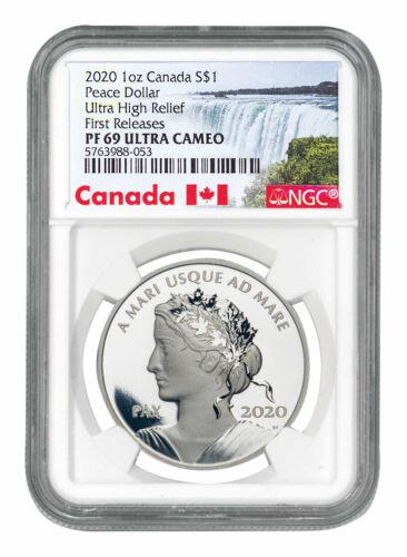 2020 Canada 1oz Ultra High Relief Silver Peace Dollar $1 NGC PF69 UC FR SKU58753