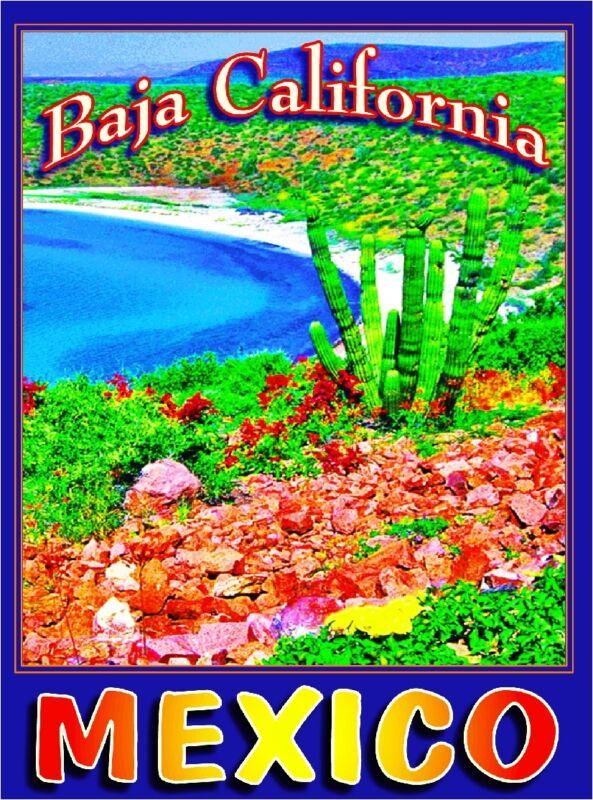 Baja California Mexico Beach Beaches Mexican Travel Advertisement Art Poster