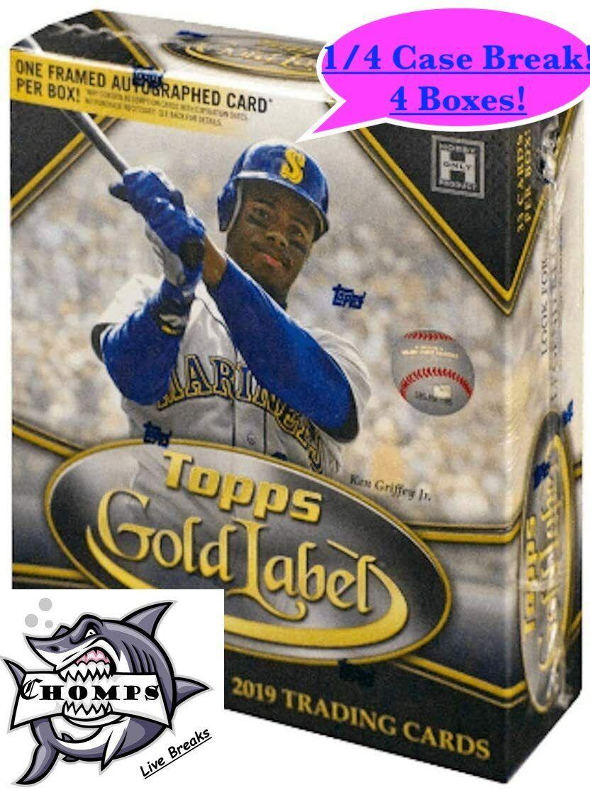 TEXAS RANGERS - 2019 Topps Gold Label Hobby 1/4 Case Break 2 - 4 Boxes  - $36.00