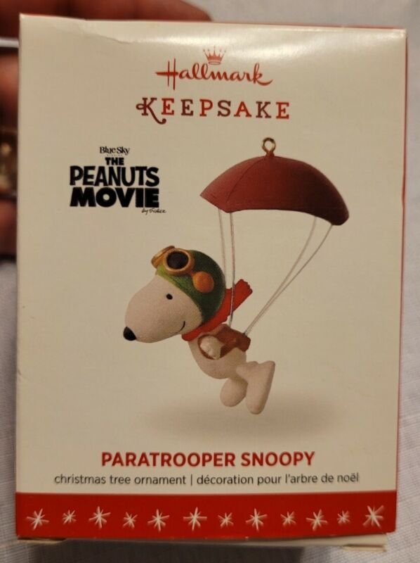 2016 Hallmark PARATROOPER SNOOPY The Peanuts Gang Movie Christmas Ornament
