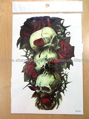sugar skull Halloween death rose 8.25