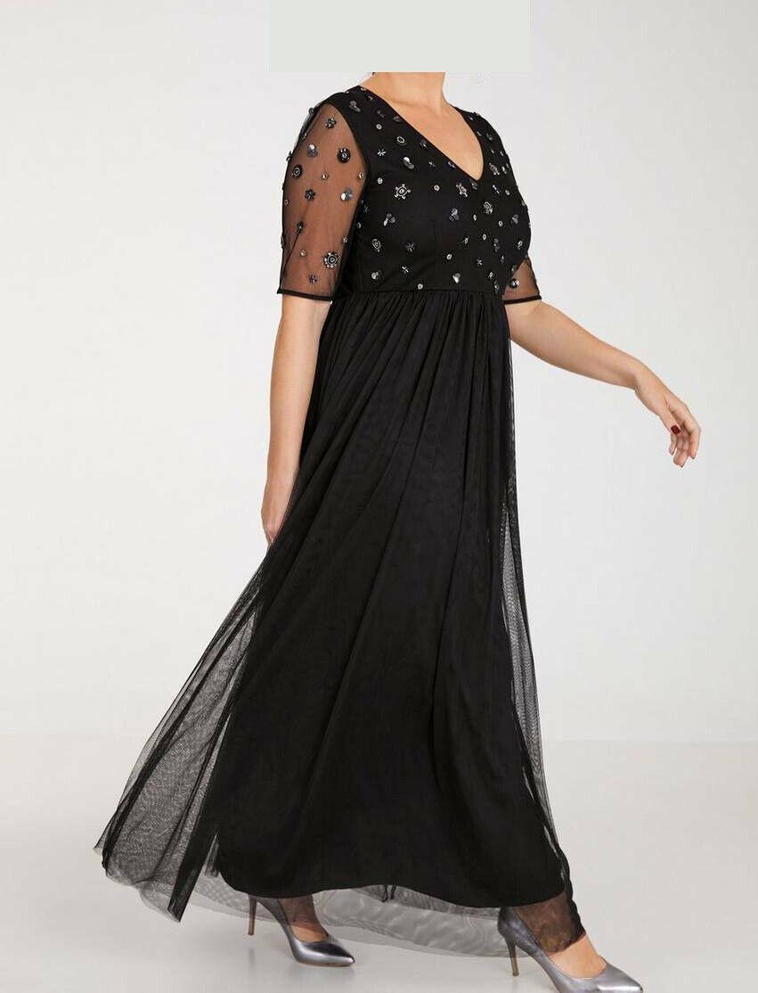 Samoon »Abendkleid mit Pailletten«. schwarz. NEU!!! UVP 159,99 € SALE%%%