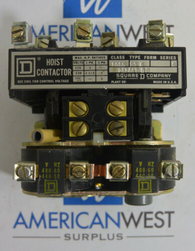 New Surplus Square D 8965 R05 Series D Hoist Contactor TESTED 440-480V 50-60Hz