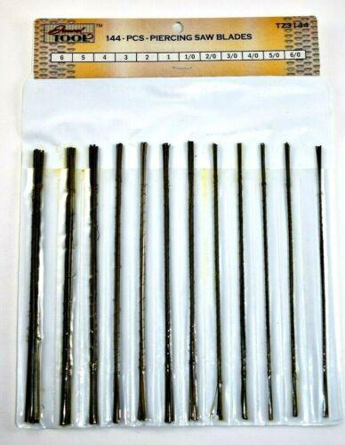 Jewelry Saw Blades 12 assorted sizes 144 blades.