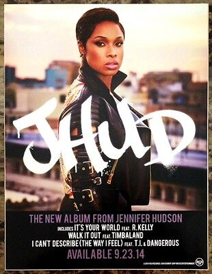 JENNIFER HUDSON JHUD 2014 Ltd Ed New RARE Display Mini-Poster Sticker Cling