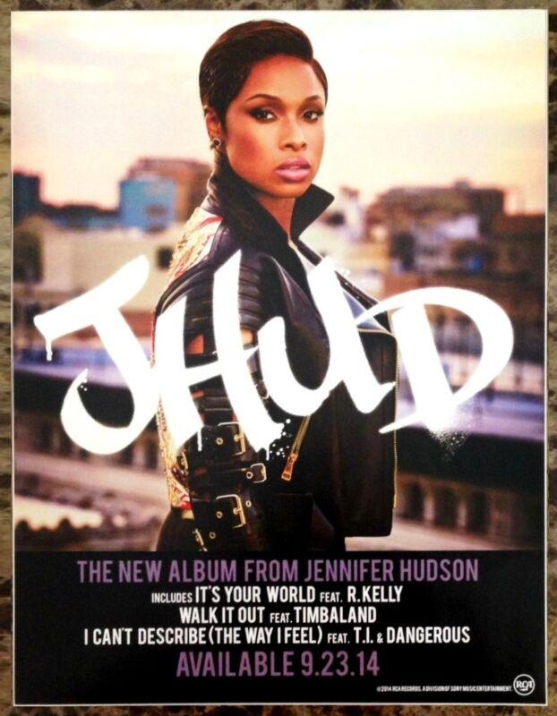 JENNIFER HUDSON JHUD Ltd Ed New RARE Display Mini Tour Poster Sticker Cling!