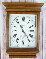 "Howard Miller Model 613-239 Quartz Wooden Wall Clock Brown Wood 20"" WORKS GREAT"