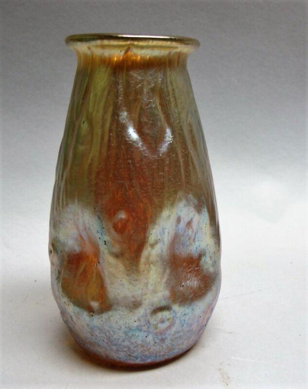 Fine Authentic LOETZ ART NOUVEAU Glass Vase  Candia Rustica  c. 1905   antique