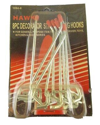 Hawk Decorator Straight Peg Hooks Pegboard Board Jordanis Red Tipped 8 Piece Lot