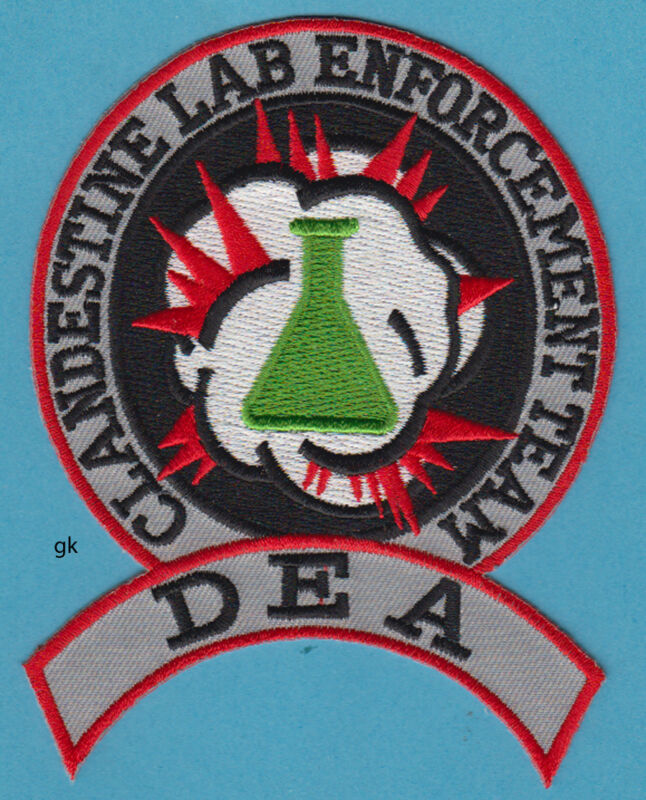 DEA DRUG ENFORCEMENT ADMINISTRATION CLANDESTINE LAB TEAM PATCH