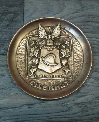 Vintage Rothenburg Eisenhut Bronze Ashtray RARE Nice