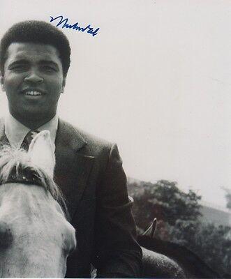Muhammad Ali Autogramm signed 16x19 cm Bild