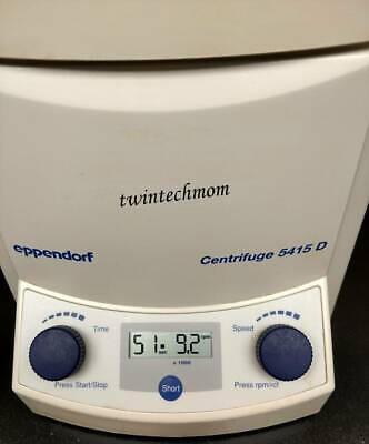 Eppendorf Microcentrifuge 5415d F45-24-11 24 Place Rotor W Aerosol Tight Lid