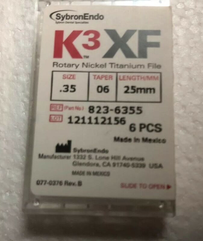 K3XF Rotary Nickel Titanium Files Size .35 Taper 06 Length 25mm