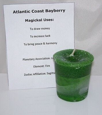 Bayberry Crystal Journey Candles Manifestation candle LUCK & MONEY magick pagan