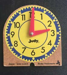 Vintage Wooden Judy Mini Analog Clock