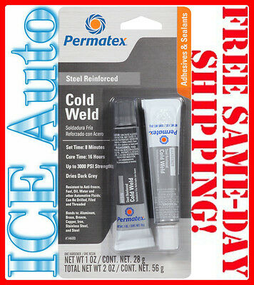 3-DAY SALE!! Permatex 14600 Cold Weld Bonding Compound, (Two) 1 oz Tubes