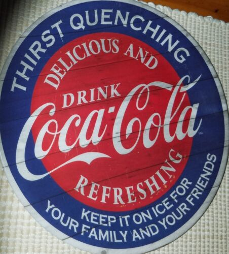 """Coca Cola Gibson Vintage Thirst Quenching Delicious and Refreshing 9"""" Plate"""