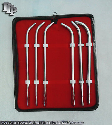 Van Buren Sound Urethral Set Of 6 Surgical Instruments