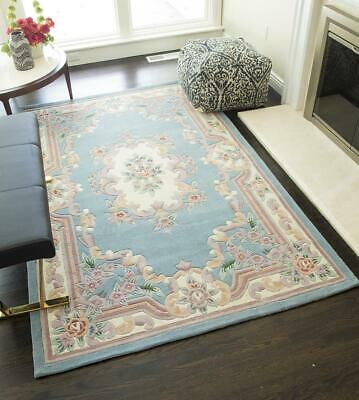Blue Wool Hand Crafted European Rugs, 4x6;5x8;8x11;2x10;Round;Mat ()