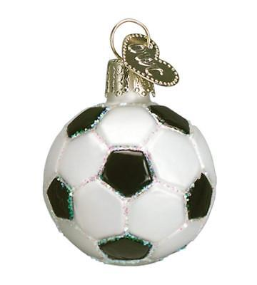 Small Soccer Blown Glass Christmas Ornament by Old World Christmas