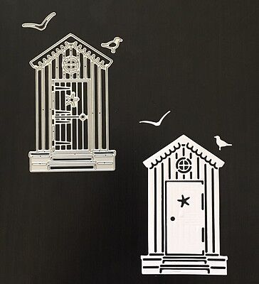 Crafts Metal Birds Summer Beach Hut Embossing Die Cutter